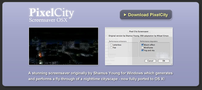 PixelCity Screensaver for OS X